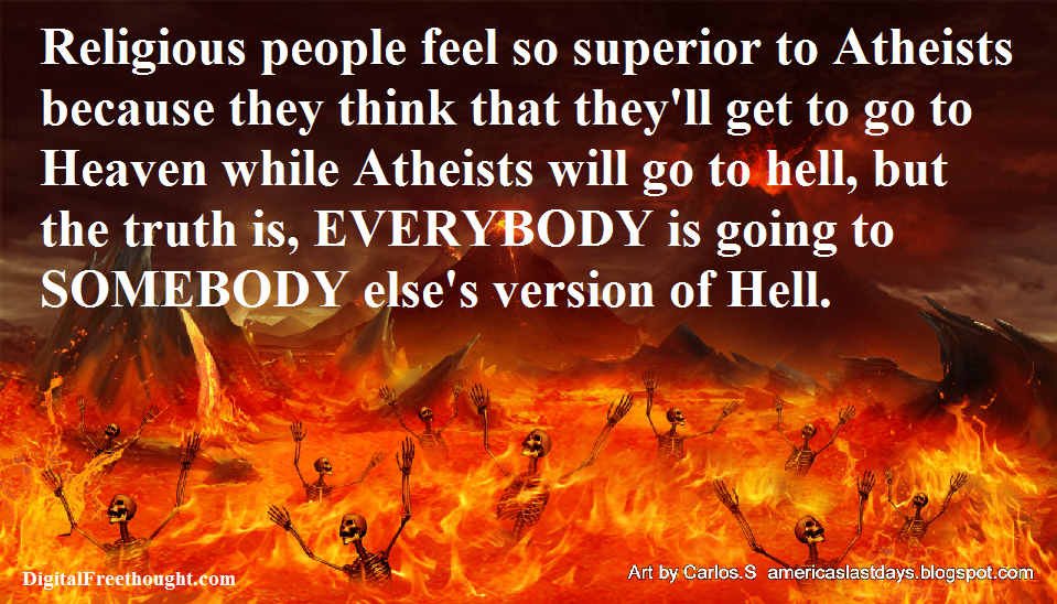 why aren�t atheists afraid of going to hell digital
