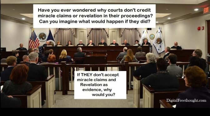 Why don't courts accept religious claims?  They used to.