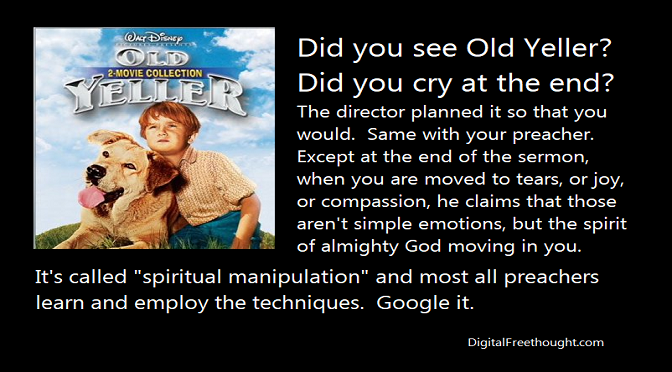Old Yeller and Spiritual Manipulation
